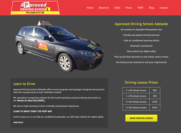 approved driving school website