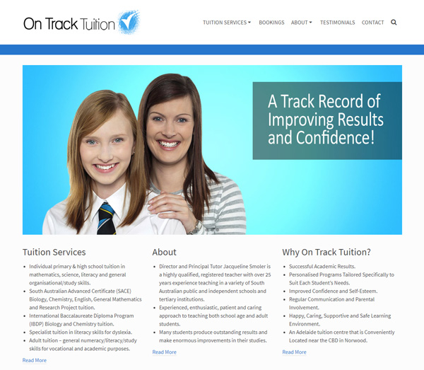 on track tuition website