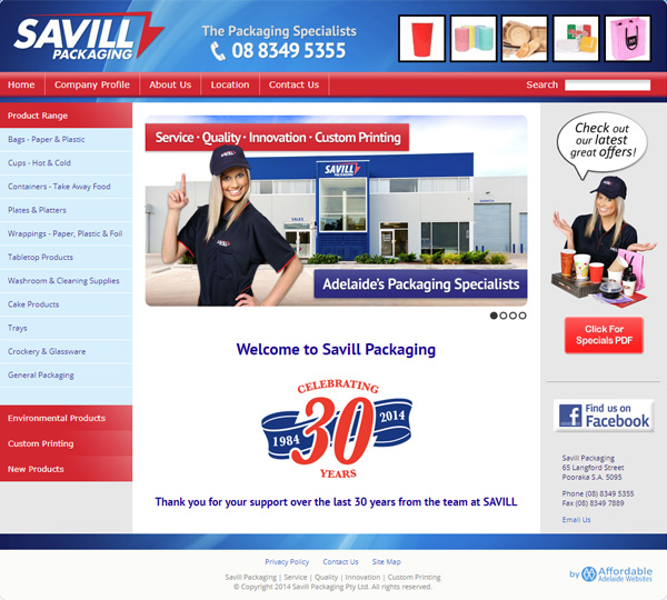 savill packaging website